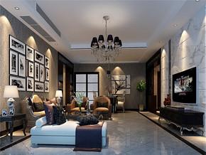 典雅时尚美式别墅客厅设计