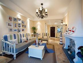 地中海客厅一室一厅装修效果图