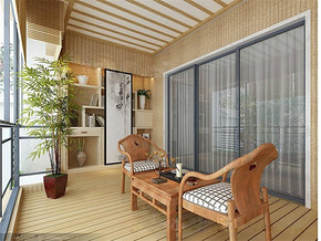现代风格休闲区装修效果图
