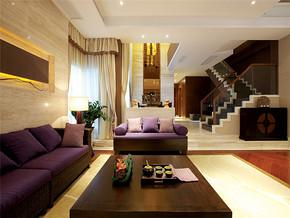 北欧风格复式客厅墙装修效果
