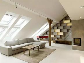 后现代混搭小复式客厅装修案例