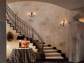 复古复式楼梯装修图片