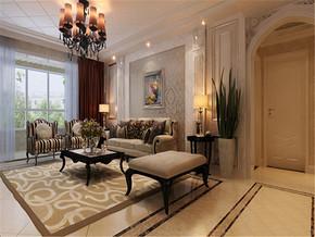 大气欧式风格别墅客厅实景图欣赏