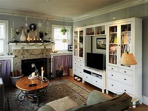 典雅混搭时尚美式别墅客厅设计