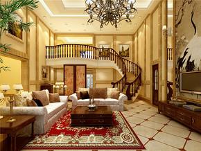 东南亚风情别墅客厅装修效果图