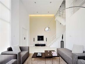 个性现代风格客厅别墅装修效果图