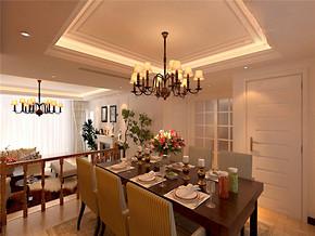 别墅东南亚田园风格餐厅装修