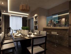 现代家庭餐厅装修效果图
