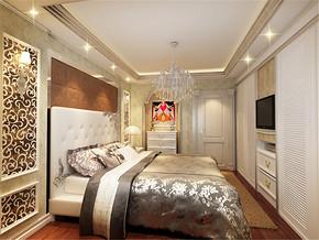 复式楼欧式主卧室装修风格图片