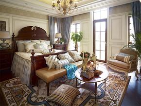 地中海时尚别墅卧室装修图片