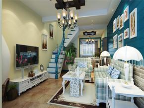 地中海小户型复式客厅家庭装修图片