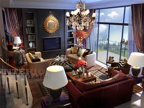北欧乡村别墅客厅时尚装修设计