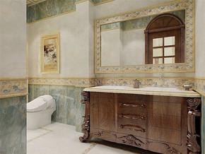 欧式古典风格卫生间装修效果图