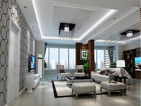 现代客厅低调奢华效果图