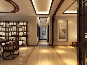 新中式风格走廊效果图