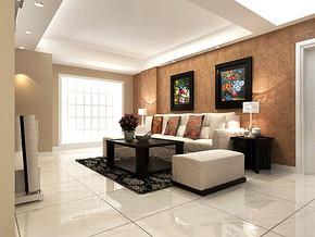 现代客厅电视背景墙造型