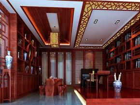 中式风格书房效果图欣赏