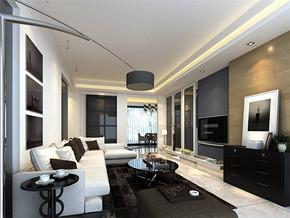 现代客厅家装吧台装修效果图