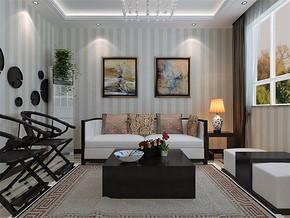 现代客厅家庭装修吊顶图片