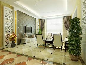 现代12平米小客厅装修效果图