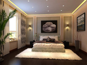 欧式卧室飘窗窗帘效果图