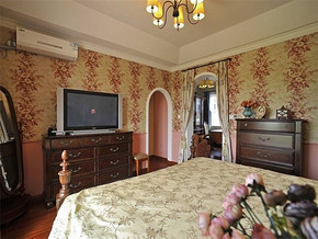 美式乡村别墅卧室装修
