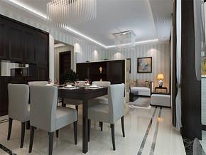 现代客厅家庭装修灯效果图