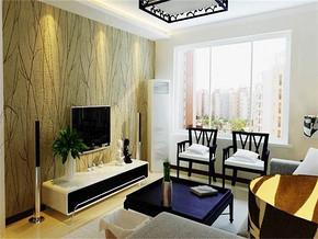 现代家装客厅窗帘效果图