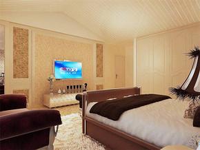 欧式风格别墅二楼卧室效果图