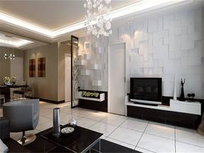 现代客厅仿古砖效果图