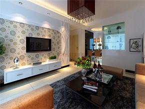现代客厅顶效果图