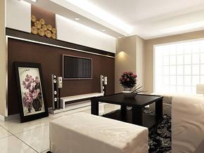 现代客厅窗帘布艺图片