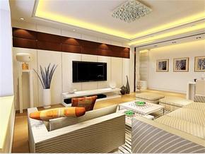 现代客厅家庭装修设计图