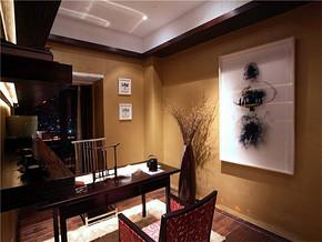 中式书房侧景装修图