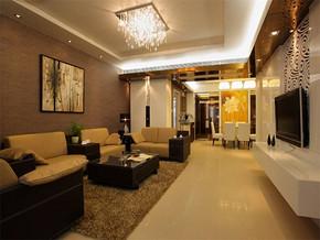 现代客厅家庭天花装修效果图