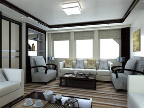 现代客厅背景房装修效果图
