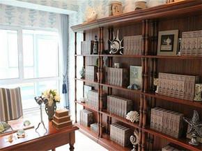 美式风格书房装修图片