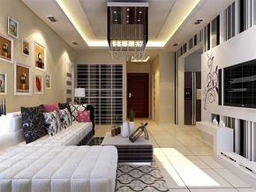 现代客厅墙贴效果图