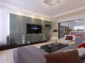 现代客厅家庭装饰图