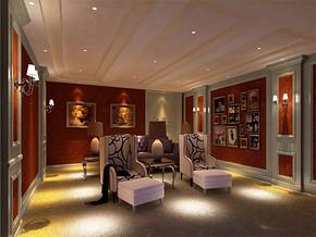 美式风格别墅地下室视听间装修效果图