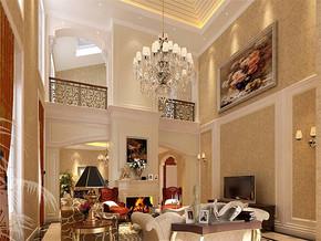欧式风格别墅一层客厅装修效果图
