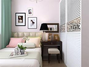 现代可爱女生房间装修效果图