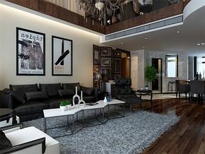 现代风格小户型客厅电视背景装修效果图