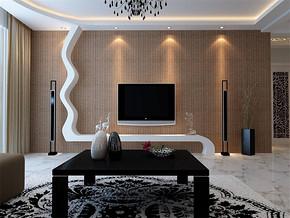 现代简约风创意电视背景墙装修效果图