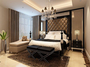 现代风格卧室效果图