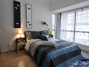 现代风格卧室背景墙装修图片