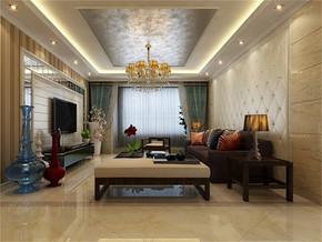 现代风格小户型客厅电视背景墙效果图
