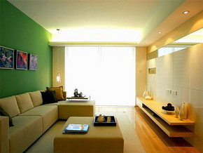 现代简约风格小户型客厅电视背景装修效果图