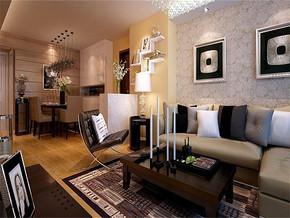 现代风格160平米客厅装修效果图