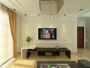 现代风格小户型客厅简单吊顶效果图